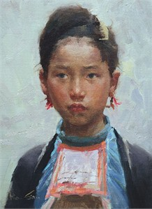 "Mian Situ Handsigned and Numbered Fine Art SmallWorks™ Giclée Canvas:""Miao Beauty"""