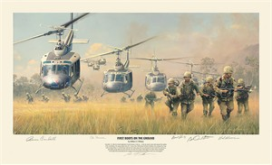 "William Phillips Handsigned and Numbered Limited Edition Print: ""First Boots on the Ground """