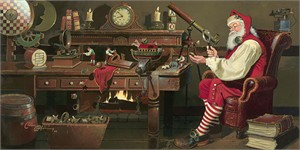 """Dean Morrissey Hand Signed and Numbered Limited Edition Giclee on Canvas:""""St. Nicholas: Work Day's End"""""""