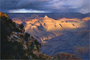 "Curt Walters Handsigned & Numbered Limited Edition Masterwork™ Giclée Canvas:""Suddenly Aglow"""