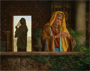 "James C. Christensen Handsigned and Numbered Limited Edition Giclee on Canvas:""The Rich Young Ruler"""
