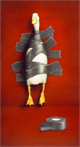 "Will Bullas Handsigned and Numbered Limited Edition Giclee on Canvas:""duck tape..."""