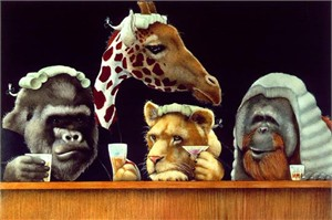"""Will Bullas Handsigned and Numbered Limited Edition Canvas:""""the bar exam..."""""""