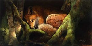 """Bonnie Marris Handsigned and Numbered Limited Edition Canvas:""""Hide and Seek with the Sun"""""""