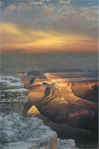 "William Phillips Hand Signed and Numbered Limited Edition Canvas Giclee :""Winter Splendor """