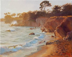"""June Carey Handsigned and Numbered Fine Art™ Giclée Canvas:""""Sundown at Sea Ranch"""""""