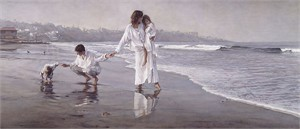 "Steve Hanks Hand Signed and Numbered Limited Edition Anniversary Giclée Canvas:""Holding the Family Together"""