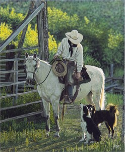 """John Bye Open Edition Fine Art Canvas Giclee:""""Welcome Home"""""""