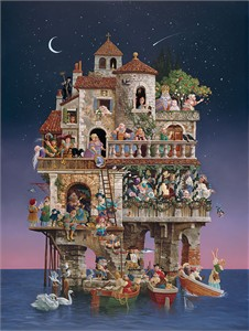 """James Christensen Hand Signed and Numbered Masterwork Edition Giclée Canvas:""""Superstitions"""""""