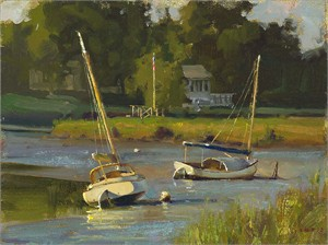 "Don Demers Handsigned and Numbered Fine Art SmallWorks™ Giclée Canvas:""Resting on the River"""