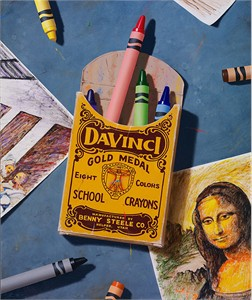"""Ben Steele Hand Signed and Numbered Limited Edition Giclee on Canvas:""""Dedicated to da Vinci"""""""