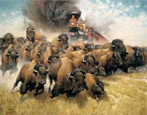 "Frank McCarthy Lmited Edition Giclée on Canvas:""The Coming of the Iron Horse"""