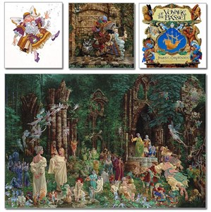 """James C. Christensen Handsigned and Numbered Limited Edition Giclee on Canvas:""""Virtue"""""""