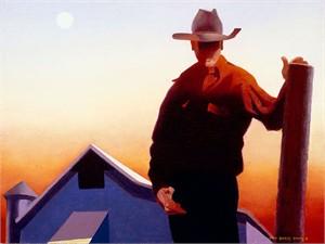 "Gary Ernest Smith Open Edition Gallery Wrap Canvas Giclee:""Rural Evening Composition"""