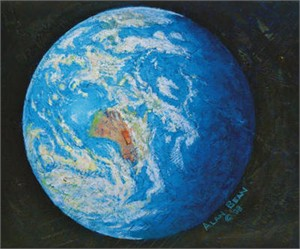 """Alan Bean Hand Signed Artist Proof Limited Edition Giclée Canvas:""""A Jewel in the Heavens"""""""