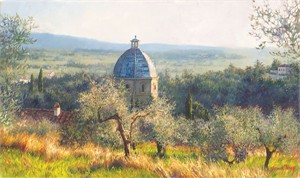 """June Carey Handsigned and Numbered Limited Edition Canvas Giclee:""""Cortona November"""""""