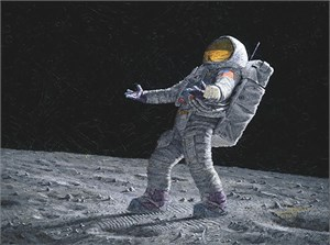 "Alan Bean Handsigned and Numbered Giclee on Canvas:""Beyond a Young Boy's Dream (Apollo 12)"""