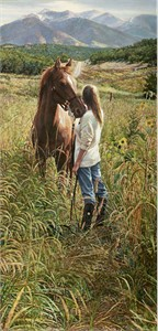 "Steve Hanks Hand Signed and Numbered Limited Edition Giclee on Paper and Canvas:""Field of Dreams"""