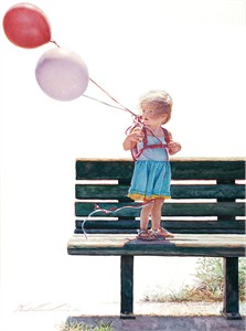 """Steve Hanks Hand Signed and Numbered Limited Edition Giclee Print:""""Blowin´ in the Wind"""""""