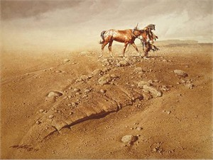 """Frank McCarthy Hand Numbered Limited Edition Anniversary Canvas Giclee:""""The Survivor"""""""