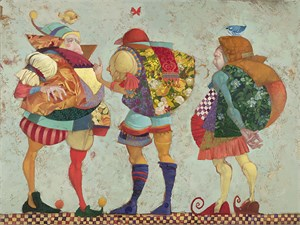 "James Christensen Handsigned and Numbered Limited Edition Canvas Giclee:""Shakespearean Fantasy"""