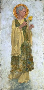 """James Christensen Handsigned and Numbered Limited Edition Canvas Giclee:""""The Yellow Rose"""""""