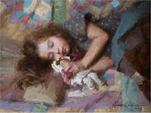 "Morgan Weistling Hand Signed and Numbered Limited Edition Gallery Wrap Canvas Giclee:""Carolina"""