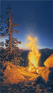 "Stephen Lyman Masterwork™Limited Edition Anniversary Canvas Giclee:""Sunset Fire"""