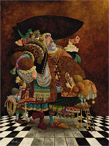 "James Christensen Hand Signed and Numbered Limited Edition Canvas Giclee:""A Lawyer More Than Adequately"""