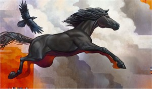 "Craig Kosak Hand Signed and Numbered Limited Edition Canvas Giclee:""Pegasus - Leap of Faith"""