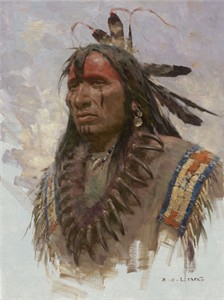 "Z. S. Liang Handsigned and Numbered Limited Edition Giclée Canvas:""The Grizzly Claw Necklace"""