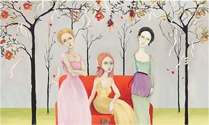 "Cassandra Christensen Barney Handsigned and Numbered Limited Edition Canvas Giclee:""Three Graces"""