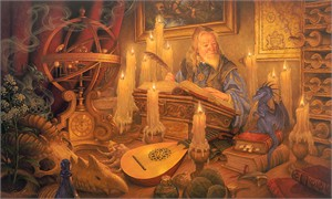 """Scott Gustafson Hand Signed and Numbered Limited Edition Canvas Giclee:""""The Dragon's Tale """""""