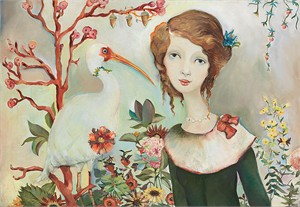 """Cassandra Barney  Hand Signed and Numbered  Canvas Giclee:""""Angelina's Paradise"""""""
