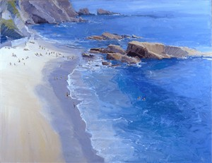 """Ken Auster Handsigned and Numbered Limited Edition Giclee on Canvas: """"Wood's Cove"""""""