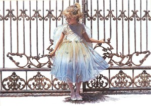 "Steve Hanks Handsigned and Numbered Limited Edition Canvas Giclee:""Hold Onto the Gate"""