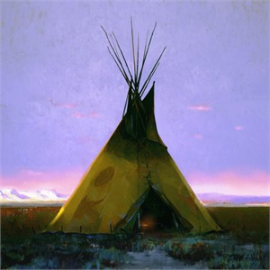 """R. Tom Gilleon Hand-Signed and Numbered Limited Edition Gallery Wrap Giclée Canvas:""""Where the West Begins"""""""