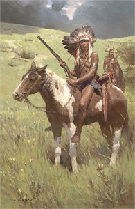 "Z. S. Liang Hand Signed and Numbered Limited Edition Giclee on Canvas: ""Little Big Horn, June 25, 1876"""