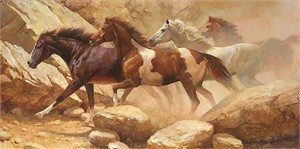 """Bonnie Marris Hand-Signed and Numbered Limited Edition  Giclee Canvas: """"Into Blanco Canyon"""""""