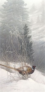 "Stephen Lyman Limited Edition Anniversary Canvas Giclee:""Color in the Snow"""