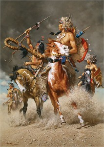 "Frank McCarthy (Never Before Published) Limited Edition Canvas Giclee:""Change in the Wind"""