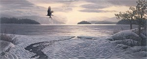 "Stephen Lyman Limited Edition MasterWork™ Anniversary Edition™ Canvas Giclee:""North Country Shores"""