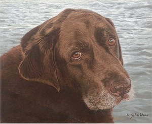 "John Weiss Hand Signed and Numbered  Giclee Canvas :""Old Friend by the Sea"""