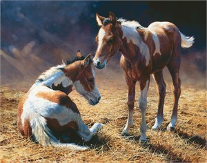 """Bonnie Marris Hand Signed and Numbered Limited Edition Canvas Giclee:""""Cousins"""""""