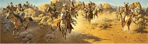 "Frank McCarthy Anniversary Limited Edition Museum Canvas Giclee:""On the Old North Trail"""