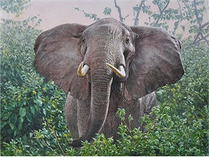 """Guy Combes  Hand Signed and Numbered Limited Edition Canvas Giclee:""""The Constant Gardener"""""""