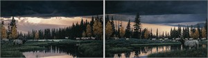 "Rod Frederick Handsigned and Numbered MasterWork™ Anniversary Canvas Limited Edition Giclee Diptych :""Before the Storm"""