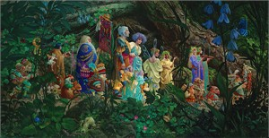 "James  Christensen Handsigned and Numbered MasterWork™ Anniversary Limited Edition Canvas Giclee:""The Royal Processional"""