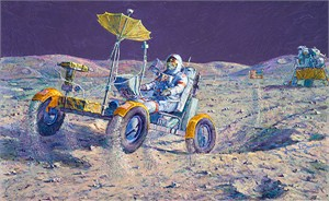 "Alan Bean  Hand Signed and Numbered Gallery Wrap Canvas Edition:""Lunar Grand Prix"""