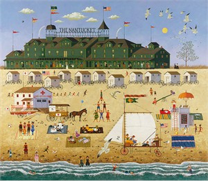 "Charles Wysocki Anniversary Fine Art Open Edition Giclée Canvas:""The Nantucket"""